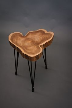 Teak END TABLE Simple/Unique by ElpisWorks on Etsy, $395.00