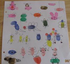 Fingerabdruck Zeichnungen