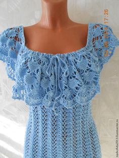 Crochet Bra, Crochet Woman, Crochet Blouse, Love Crochet, Crochet For Kids, Beautiful Crochet, Crochet Clothes, Knit Patterns, Dress Patterns