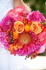 like the bright colors for bridesmaids
