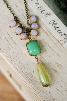 Louise. boho layering beaded strand necklace. by tiedupmemories, $32.00