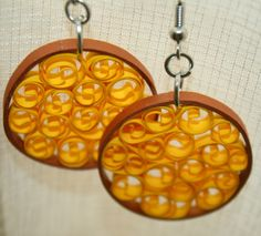Circle earrings by Papersing on Etsy