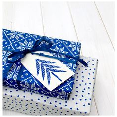 Love the bold motifs of the Rosehip Cards Christmas Gift wrap
