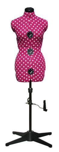 Adjustoform-Cerise-Polka-Dot-8-Part-Adjustable-Dressmakers-Dummy-UK-10-16