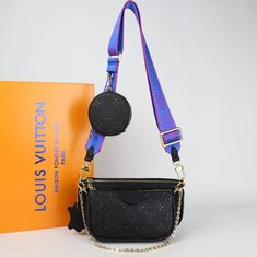 Louis Vuitton Multi Pochette Accessoires Genuine leather bagIt consists of three parts, two bags and one wallet. Large bag size: 24 x 13 cmSmall bag size: 18 x 9 cm Leather Design, Leather Bag, Louis Vuitton, Shoulder Bag, Handbags, Wallet, Purses, Accessories, Fashion