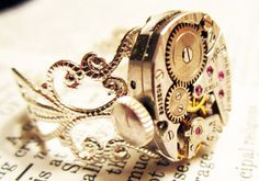 Steampunk ring vintage hamilton watch movement by InsomniaStudios on Wanelo