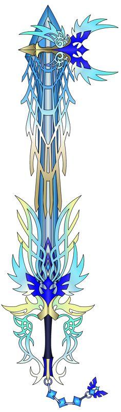 Custom Keyblade - Ultima Weapon (Ascend) Coloured by flarespire on DeviantArt Kingdom Hearts Keyblade, Kingdom Hearts Fanart, Arte Sailor Moon, Cosplay Weapons, Epic Art, Fantasy Weapons, Sword Art, Final Fantasy, Online Art