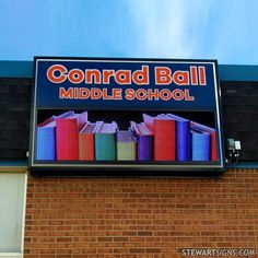 When you install a sign from Stewart Signs, you'll never have to worry about whether or not your sign in FCC compliant. We ensure all our signs have met the FCC standards. Monument Signs, School Signs, Led Signs, Outdoor Signs, The Middle, Middle School, Colorado, Lettering, Learning