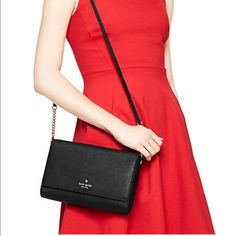 Kate Spade Alek Crossbody Great for everyday use. Fold over leather Crossbody bag. 14 karat light gold tone hardware. Lined interior with accessory and zipper pocket. Highly recommended!!! The perfect everyday Kate Spade bag for under $200?!?! Free Shipping on Ⓜ️erc kate spade Bags Crossbody Bags