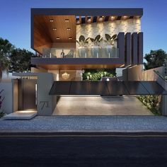 architecture homes ideas that make you amazed 21 > Fieltro.Net architecture homes ideas that make you amazed 21 > Fieltro. Architecture Design, Modern Architecture House, Facade Design, Exterior Design, Creative Architecture, Building Architecture, Bungalow House Design, House Front Design, Modern House Design