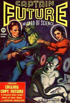 Captain Future, Spring 1940, cover artist unknown