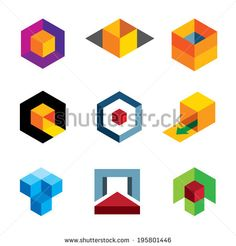 Creative 3d cube body for professional company icon logo