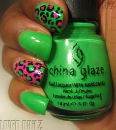 (love these particular shades, although usually I am for a more acidic green)