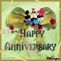 Happy Anniversary Images Happy Anniversary Pictures and Images Anniversary Wishes For Sister, Wedding Anniversary Quotes, Anniversary Greetings, Anniversary Pictures, Happy Anniversary Funny, Mickey Mouse, Minnie, Happy Birthday Funny, Birthday Wishes