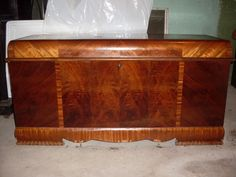 Vintage Art Deco Waterfall Lane Cedar Hope Chest 1940's