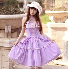 #Lolitadress#Lolita#Dress,Lolita White And Purple Lace Princess Dress