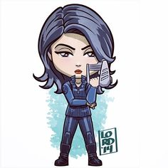 "Melinda ""the Cavalry"" May!!! Nailed it. ✏️✏️✏️✏️ #lord_mesa #lordmesaart #digitaldoodle #sketch #artwork #illustrator #illustration #vectorart #mangastudioex #melindamay #agentsofshield #fun #funny #marvel #kids #shield #mingnawen #chibi #martialarts #thecavalry"
