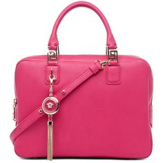 VERSACE Handbag in Pink ($1,750) ❤ liked on Polyvore