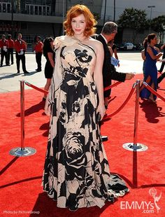 Jenny Packham Fall 2012  worn by the lovely Christina Hendricks |  Creative Emmy Awards 2012 ... <3 stars who go to the creative Emmy's