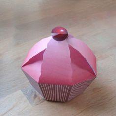 Cupcake suprise van papier
