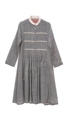 Dresses : Dress Maxi Chemise Vichy