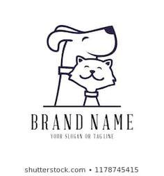 creative logo design Dog and Cat vector template kreative Logo-Design Hund und Katze Vektor Vorlage Creative Logo, Creative Design, Logo Animal, Dog Logo Design, Dog Branding, Pet Clinic, Dog Vector, Cat Logo, Shop Logo