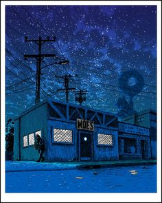 mydearscout: feministingforchange: mayahan:Illustrator, Tim Doyle, Re-Imagines The Simpsons' Springfield As A Gloomy Desolated Town wow, i love this! Looks spooky. Illustration Nocturne, Night Illustration, The Simpsons, Simpsons Springfield, Digital Foto, Comic Anime, Spoke Art, Sad Art, Screensaver