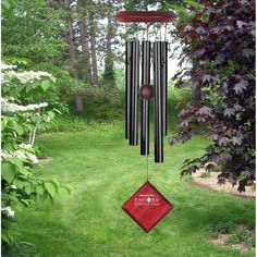 This chime is designed and handcrafted for superior musical performance. It is hand-tuned to a universal, pentatonic (five-note) scale and acts in concert with the window to create random patterns of wonderful sound.   eBay!