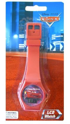Cars Kids Watch - Disney Pixar Cars Lightning McQueen LCD Watch (Red): Watches: Amazon.com