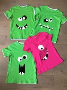 Monster t shirt, monster kinderfeestje, monster party. Monster Party, Monster Book Of Monsters, Monster Birthday Parties, Kids Monster Costume, Monster Mash, Space Party Costumes, Halloween Party Costumes, Halloween Birthday, Costumes
