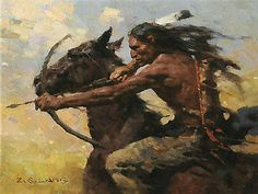 Hot Chase ZS Liang Le 75 9x12 Canvas Signed New Giclee Native American Horses ZS | eBay