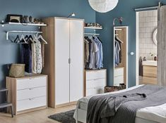 ASKVOLL Komoda s 3 ladice, efekt bijelo bajcanog hrasta, bijela, cm - IKEA Bedroom Closet Storage, Bedroom Drawers, Bedroom Wardrobe, Bedroom Furniture, Bedroom Organization, Closet Dresser, Organization Ideas, Wardrobe Storage, Clothes Storage