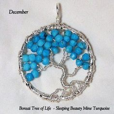 December's Birthstone - Gemstone -Turquoise Blossoms from the Sleeping Beauty Mine, by K for 'Trifles & Whimsy', on Etsy.