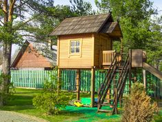 Little people like little spaces, so as small as this playhouse is, it's definitely going to be a hit with the little 'uns in your life. Description from blog.builddirect.com. I searched for this on bing.com/images