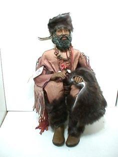 CALEB, Daddy's Long Legs mountain man African American black doll