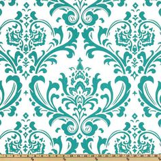 Premier Prints Traditions True Turquoise and by ModernalityFabrics, $9.95