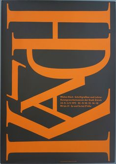 "via #IVPDA member Philip Williams - Poster Museum ""Collection of the Month: Walter Kach Schriftgrafiker und Lehrer / Typographer and Teacher (1973) Artist: Hochuli https://postermuseum.com/collections/swiss-posters/products/walter-kach-schriftgrafiker-und-lehrer-12""    #VintagePosters"