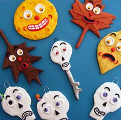 Halloween ornaments by Seasons Art, via Flickr