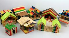 DIY Popsicle Sticks House Collection ( Easy & Quick )