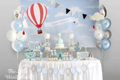 Amazing hot air balloon birthday party! See more party planning ideas at CatchMyParty.com!
