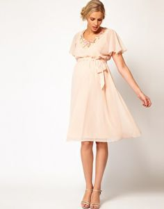 ASOS Maternity | ASOS Maternity Skater Dress With Scallop Lace ...