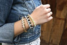 Fancy Friendship Bracelets | Show your BFF  how much she means to you with these bracelets!