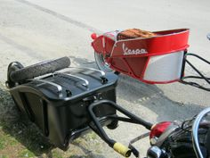 The scooter cargo trailers I designed and built for my 2013 Honda Metropolitan and my  Vespa PX150 tburick495@aol.com