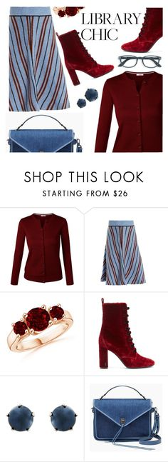 """""""library chic"""" by paperdollsq ❤ liked on Polyvore featuring Miu Miu, Yves Saint Laurent, Lulu Frost and Rebecca Minkoff"""