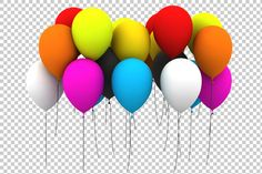Check out Balloons - 3D Render PNG by TrueMitra Designs on Creative Market