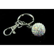 Sparkly aurora borealils (AB) crystal bag charm/keyring