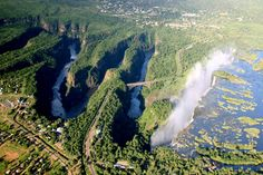 White Water Rafting down the Zambezi River in Victoria Falls, Zimbabwe Chutes Victoria, Victoria Falls, Out Of Africa, France, Photos Of The Week, World Heritage Sites, Aerial View, Rafting, Beautiful World