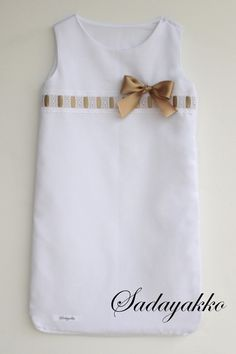 SACO DE DORMIR VERANO T. 0-6 MESES BLANCO-BEIGE de SADAYAKKO Sacos de dormir - Sleeping Bags  por DaWanda.com