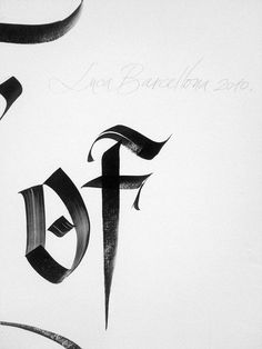 Luca Barcellona #lettering #typography #calligraphy