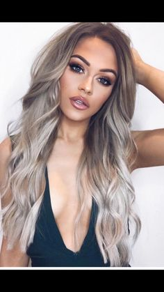 Layered Silver Blonde Ombre Hair ❤️ Grey ombre hair remains popular, which is not surprising as this color is super cool. If you wonder how to pull off grayish shades, see our ideas. Hair 33 Try Grey Ombre Hair This Season Silver Blonde Ombre, Grey Ombre Hair, Brown Blonde Hair, Platinum Blonde Hair, Ash Blonde Hair Balayage, Ombre Hair Colour, Grey Blonde Hair Color, Grey Dyed Hair, Super Blonde Hair